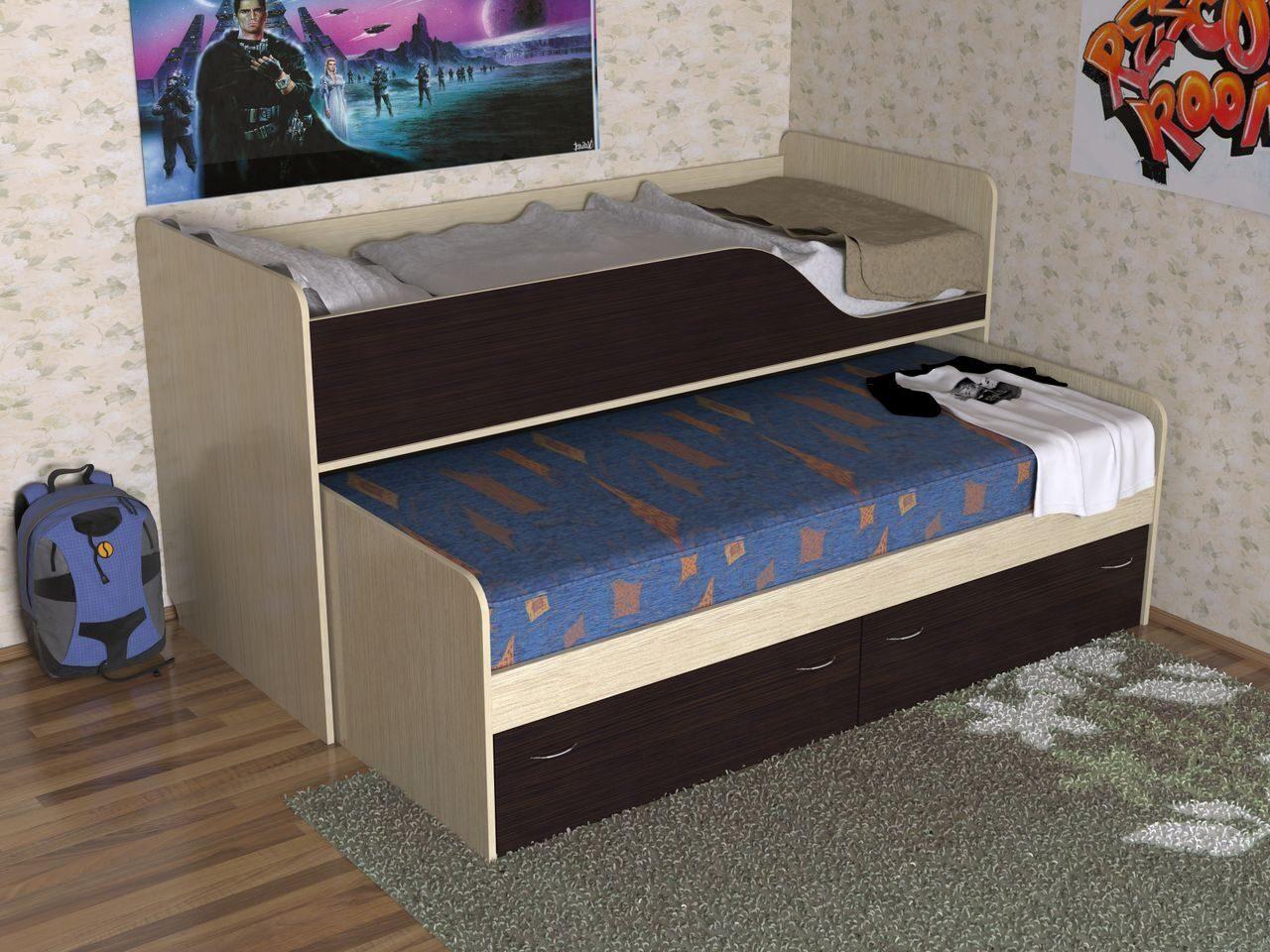 Кровать детская двухъярусная выкатная фото